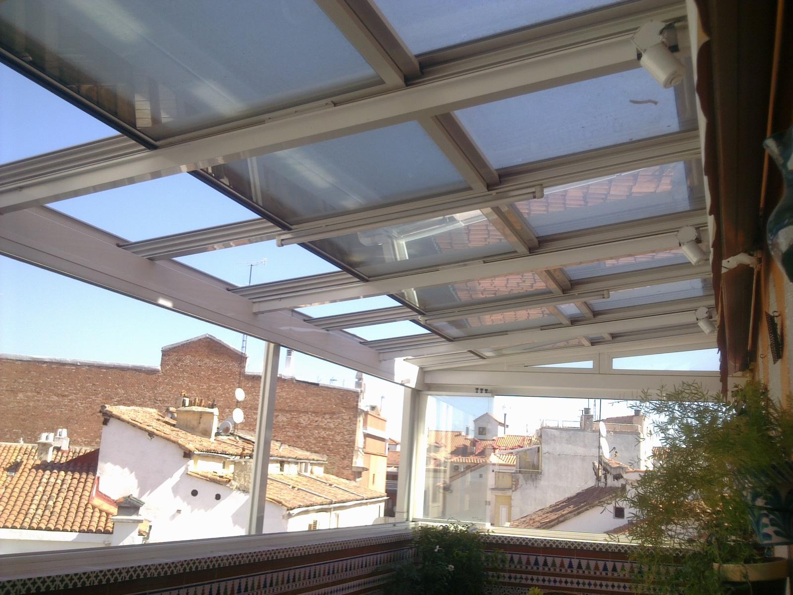 techo mvil vidrio